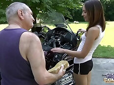 OLD YOUNG PORN Grandpa Fucks Teen Hardcore blowjob young girl pussy